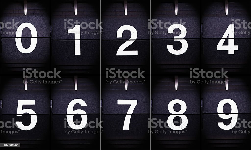 Display numbers 0-9 royalty-free stock photo
