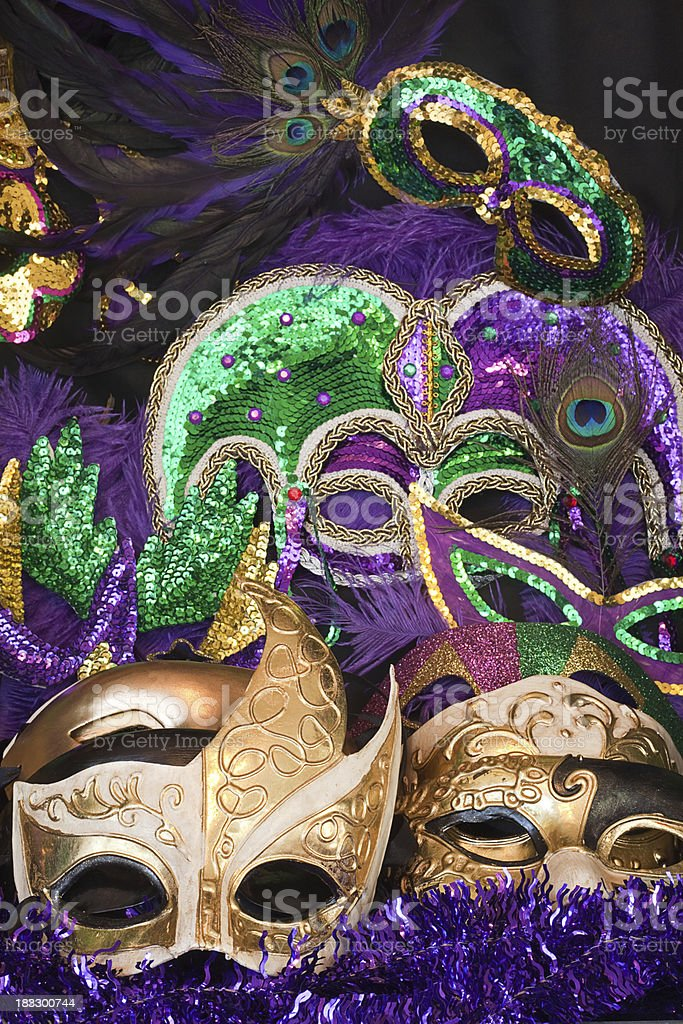Display of Colorful Masks royalty-free stock photo