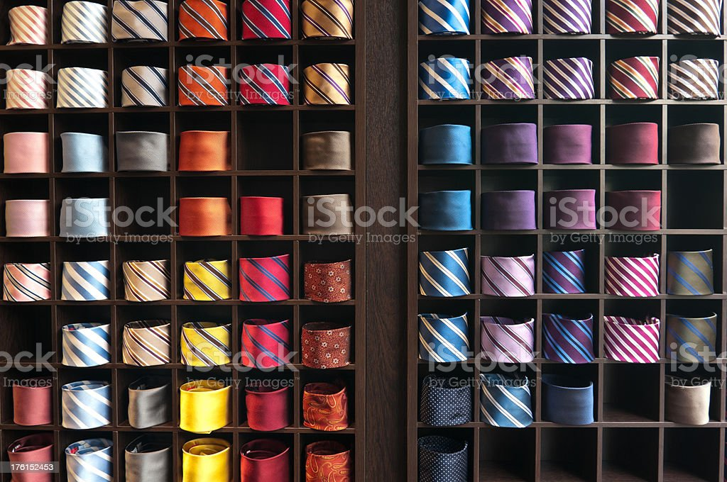 Display of Colorful Neckties royalty-free stock photo