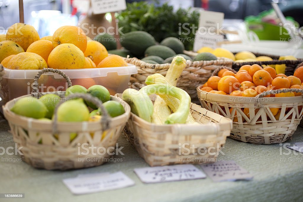 Display of fresh produce at Farmer's Market royalty-free stock photo