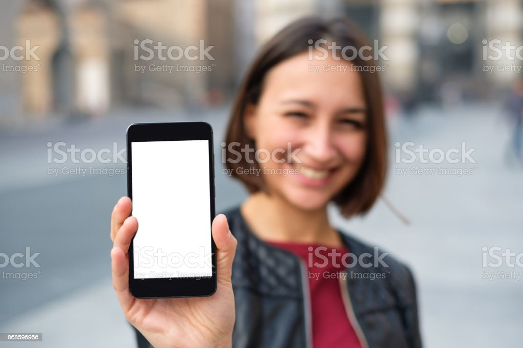 Display des Smartphones mit leere Kopie Platz für text – Foto