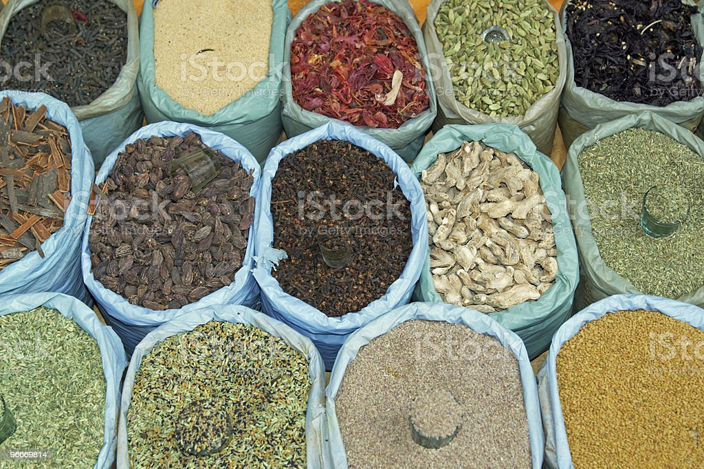 Display of Spices royalty-free stock photo