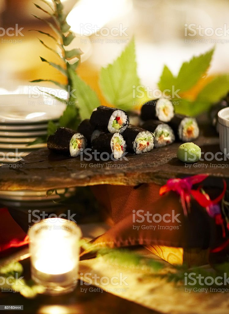 Display of sushi rolls  royalty free stockfoto