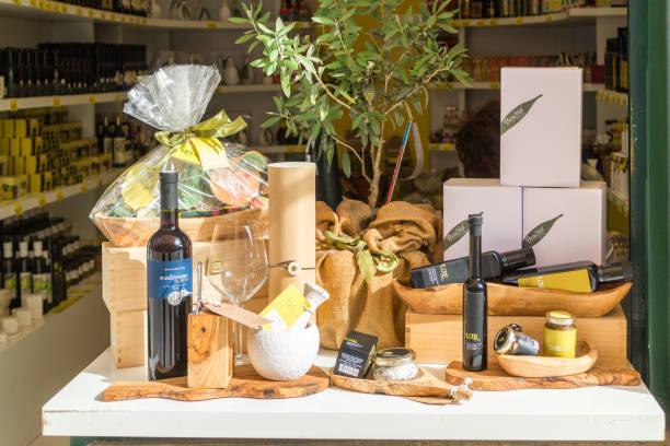 Weindarstellung, Olivenöl – Foto