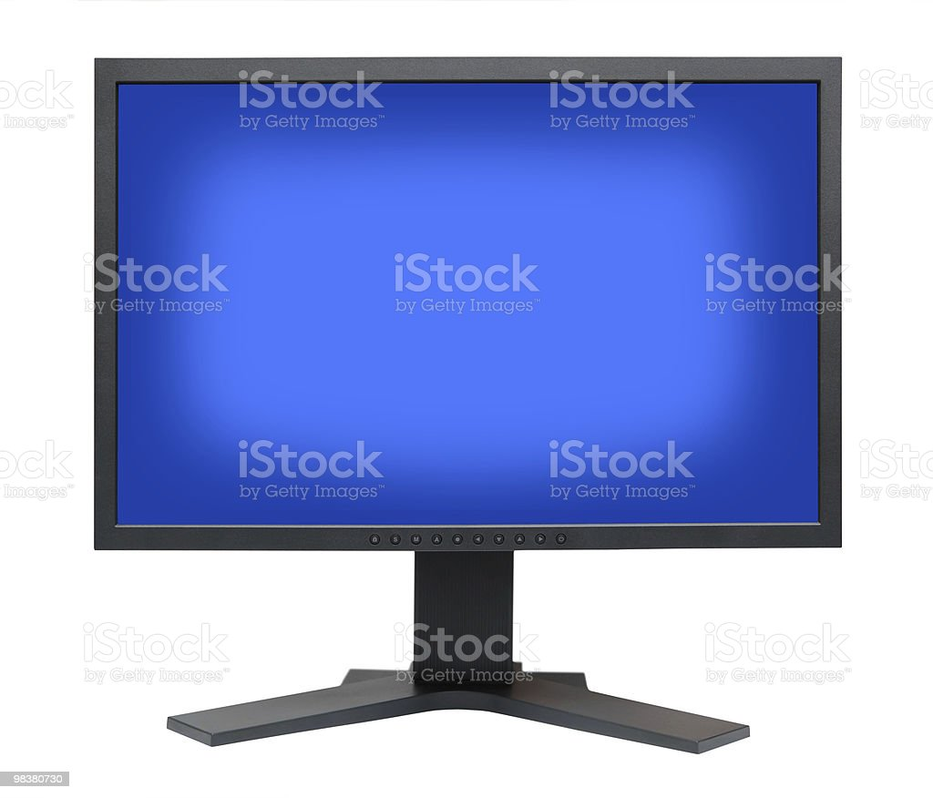 LCD S-PVA HD display panel type side view royalty-free stock photo