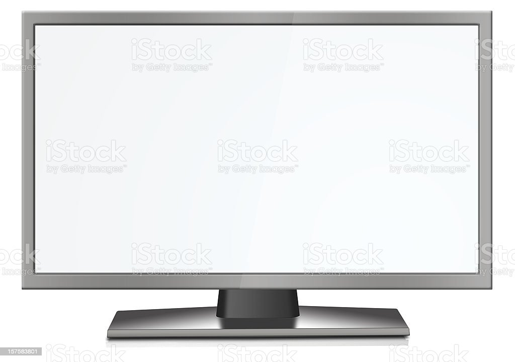 LCD Display (White Screen) royalty-free stock photo