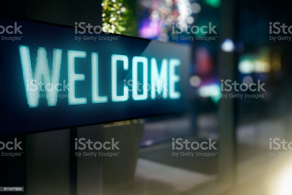 LED Display stock photo