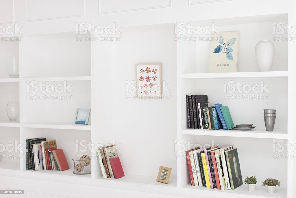 Display shelf stock photo