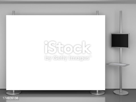 istock display stand with multimedia post 174926136