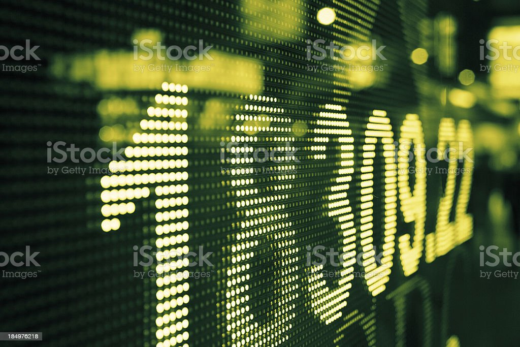 display stock market data royalty-free stock photo