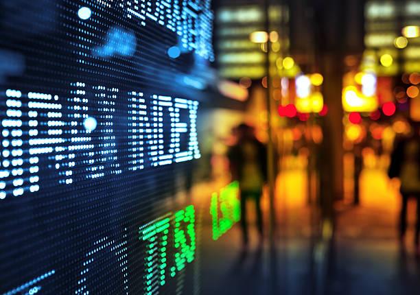 display stock market data - kurstafel stock-fotos und bilder