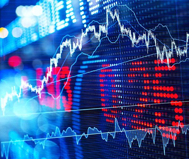 stock market - hang seng index stock-fotos und bilder