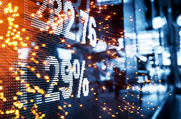 stock market zahlen - hang seng index stock-fotos und bilder