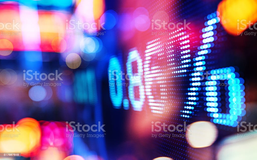 display stock market numbers and graph - Royalty-free Asia Stock Photo