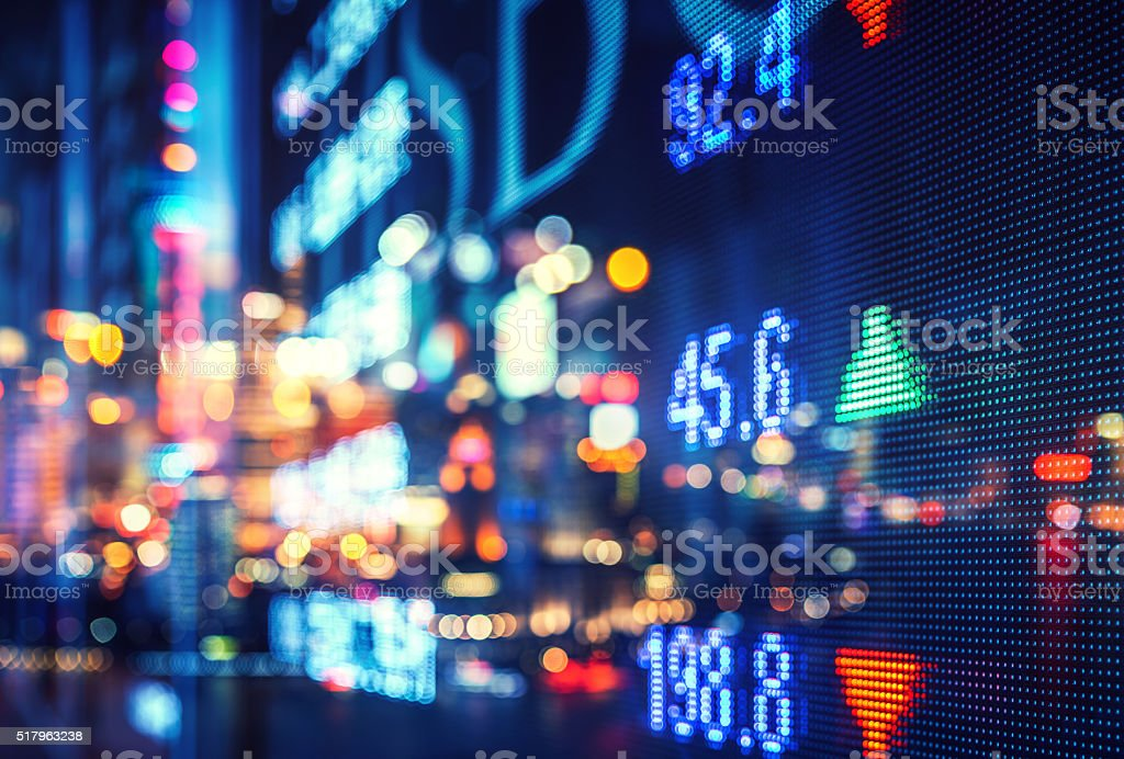 display stock market numbers and graph royalty-free stock photo