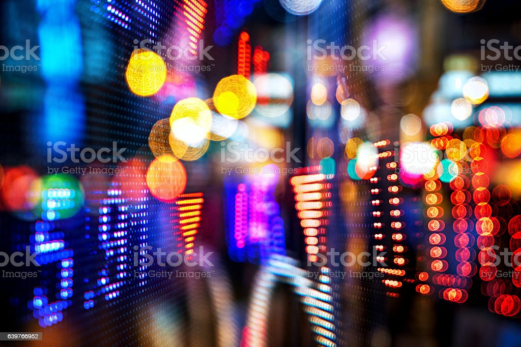 display stock market numbers and graph stock photo