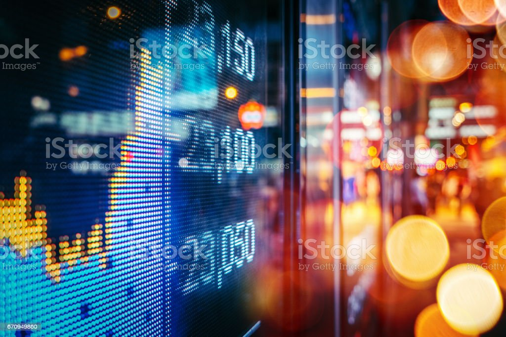 Display stock market numbers stock photo