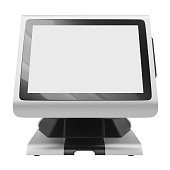istock Display terminal front view 473842630