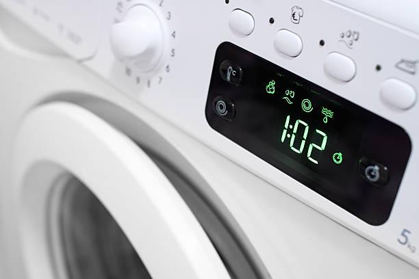 Display washing machine. stock photo