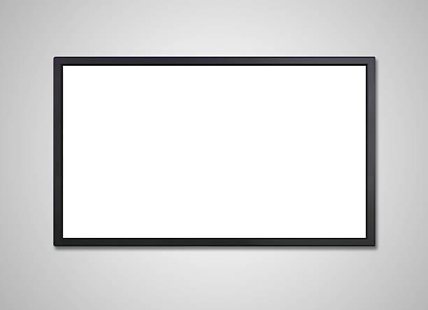 tv display weißer bildschirm, an der wand - 4k led tv stock-fotos und bilder