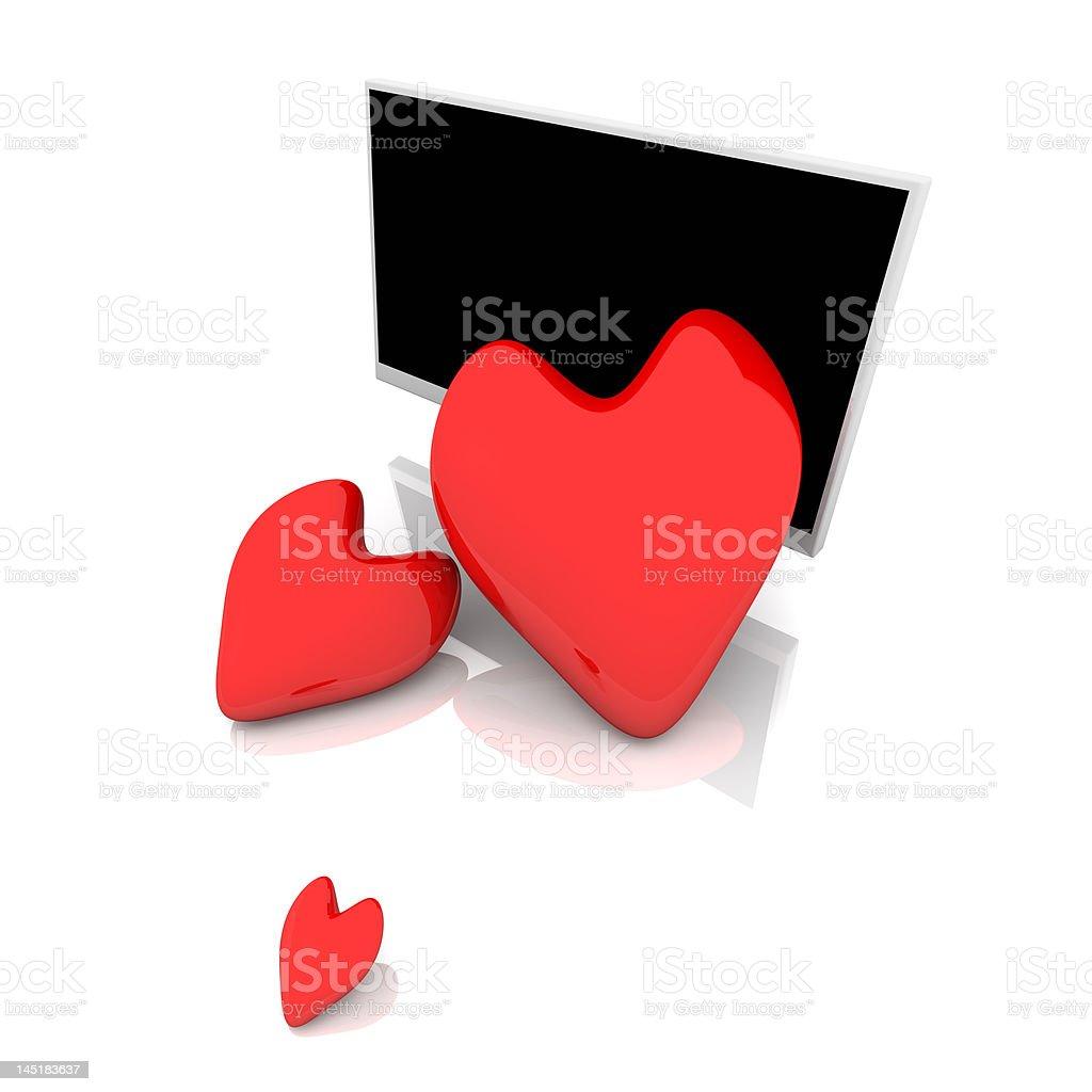 Display with three Hearts royalty-free stock photo