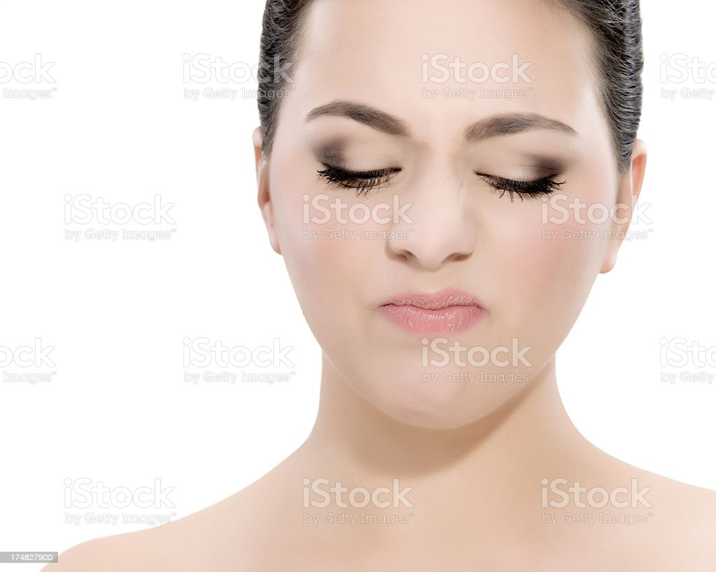 displeased woman royalty-free stock photo