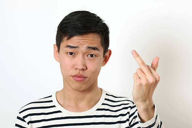 Royalty Free Chinese Middle Finger Pictures, Images and