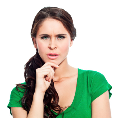 Displeased Young Woman Stock Photo - Download Image Now