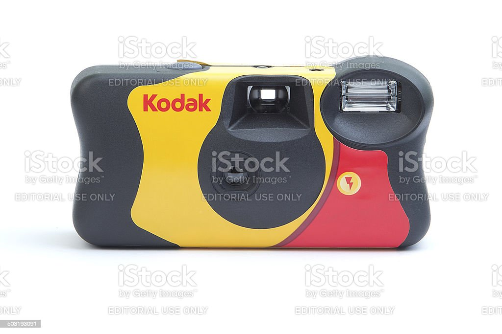 Disposable camera Kodak isolated stock photo