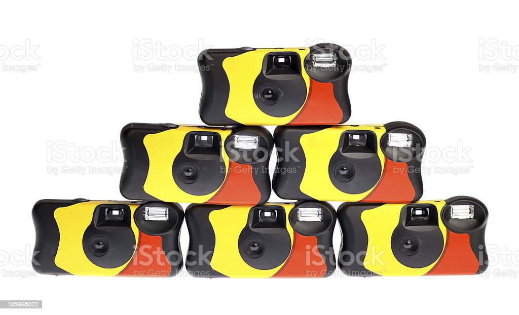 Disposable camera royalty-free stock photo