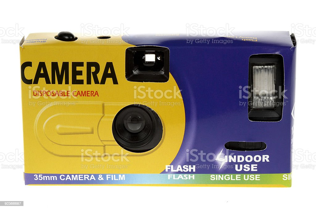 disposable camera stock photo