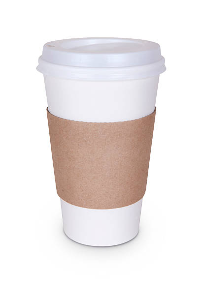 disposable coffee cup - paper coffee cup stock photos and pictures