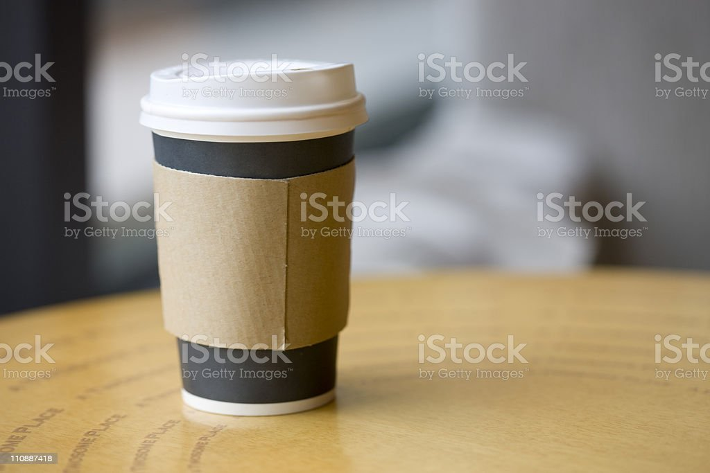 disposable cup on table royalty-free stock photo