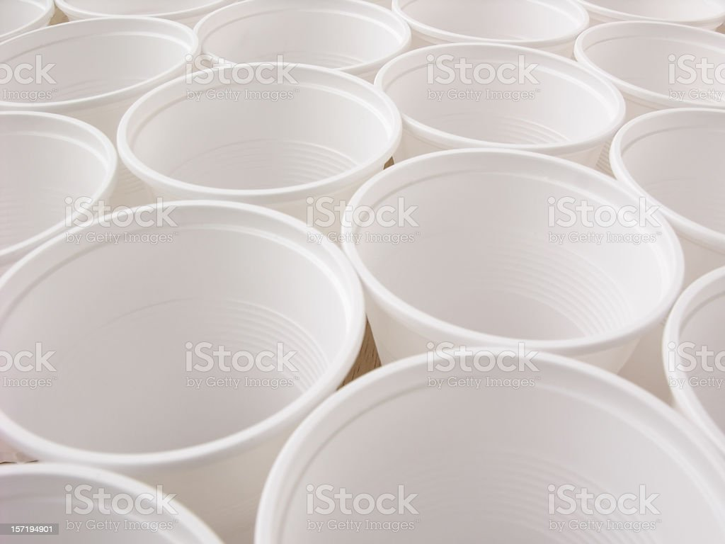 Disposable cups background royalty-free stock photo