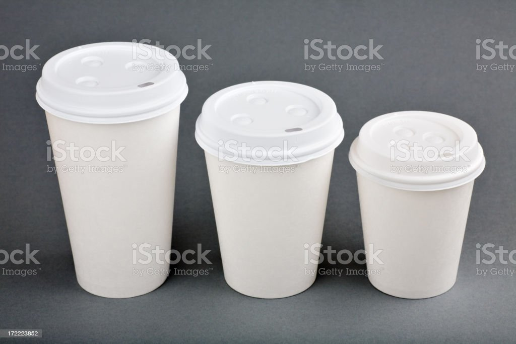 Disposable cups royalty-free stock photo