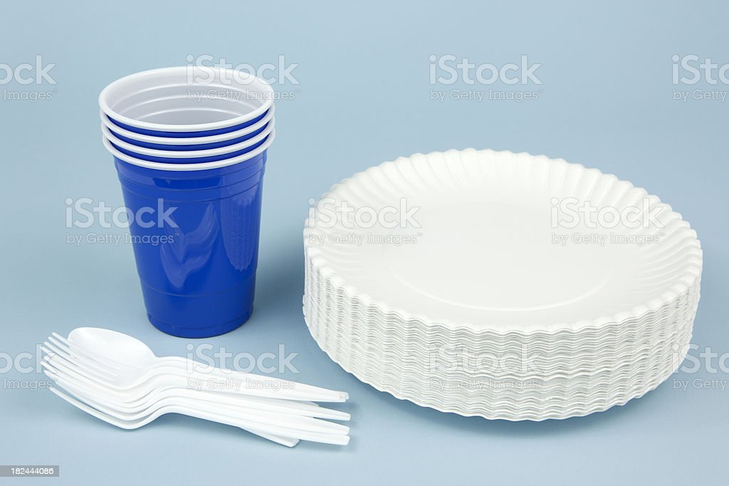 Disposable Dishware stock photo