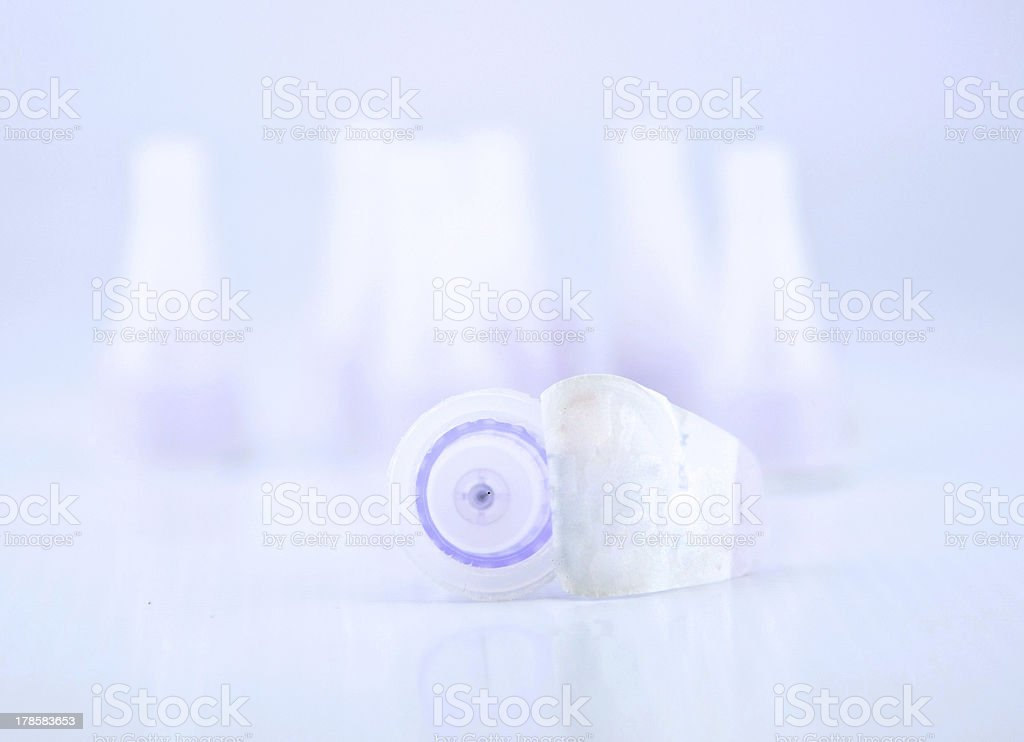 disposable needles for insulin pen royalty-free stock photo