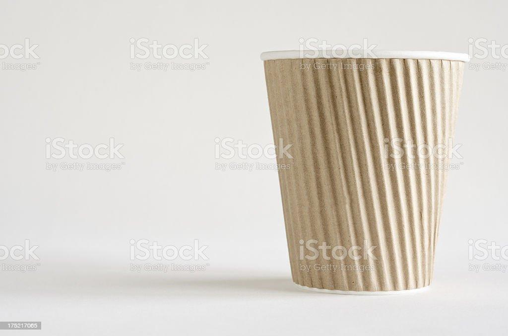 Cardboard hot coffee cup.