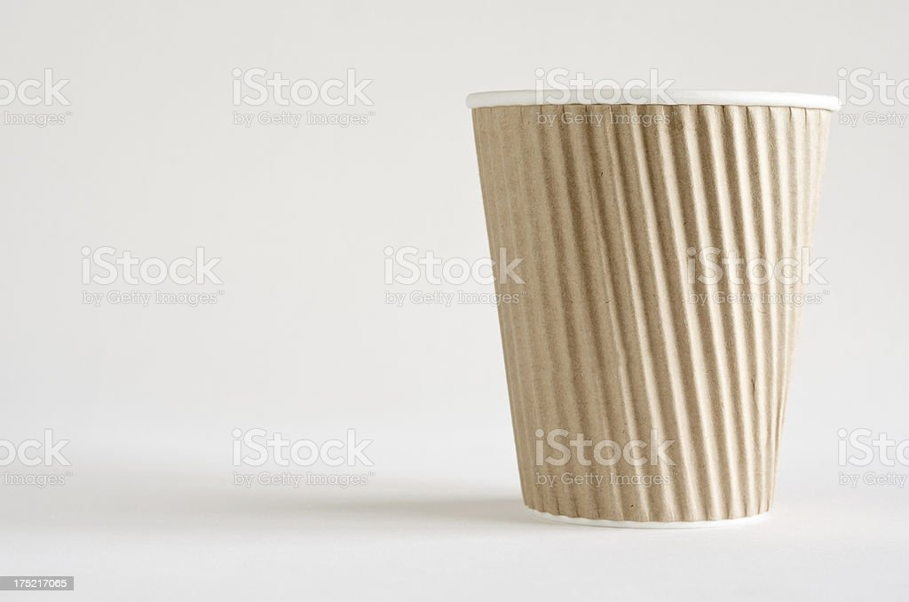 Disposable paper cup. stock photo