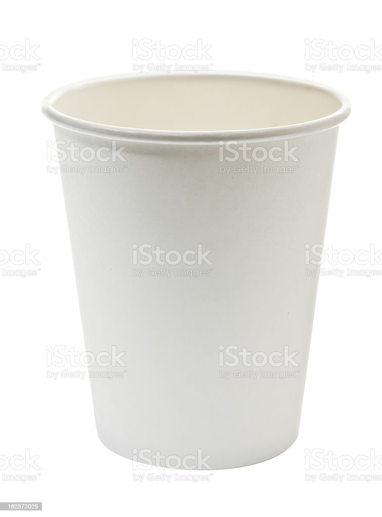 Disposable paper cup royalty-free stock photo