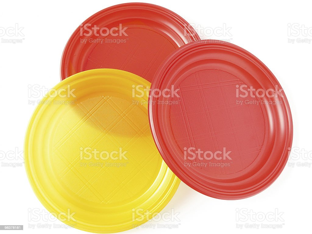 disposable plates royalty-free stock photo