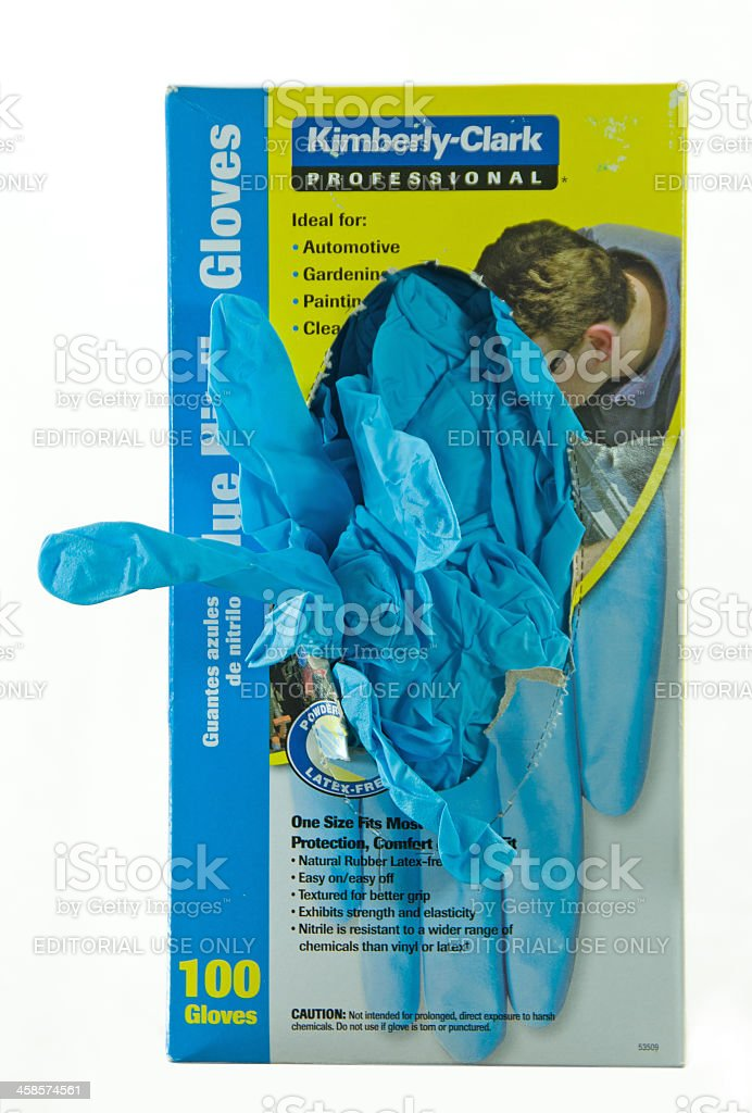Disposable Protective Gloves royalty-free stock photo