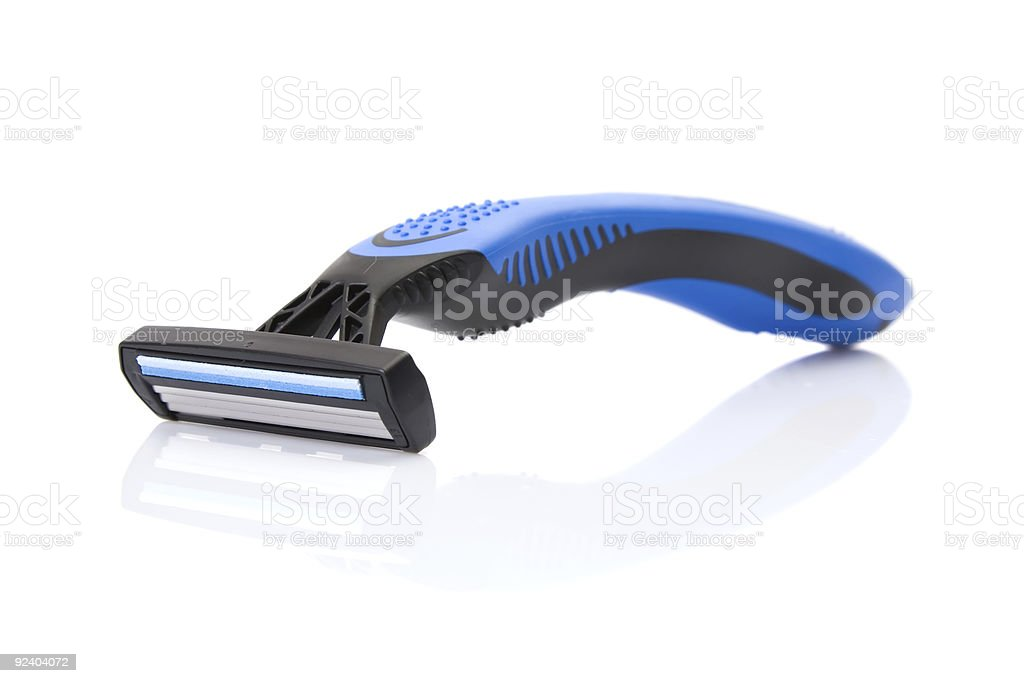 disposable shaving razor stock photo