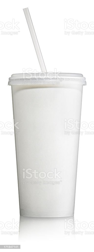 Disposable Soft Drink Cup with lid stock photo