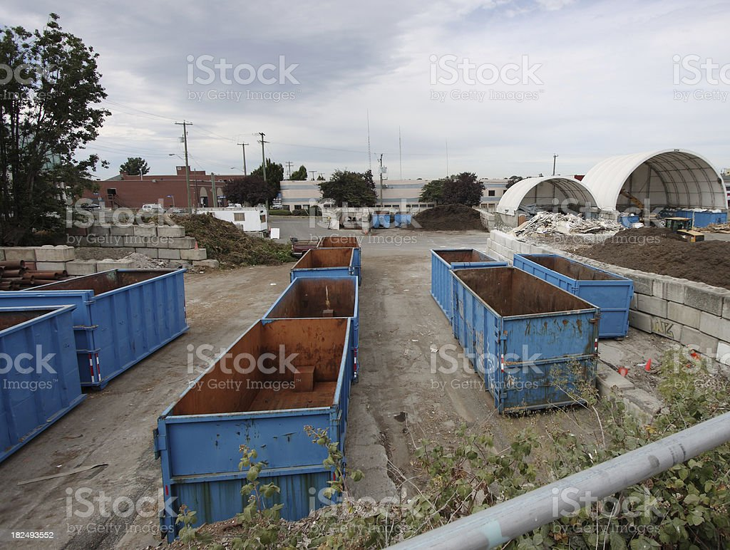 disposal bins royalty-free stock photo