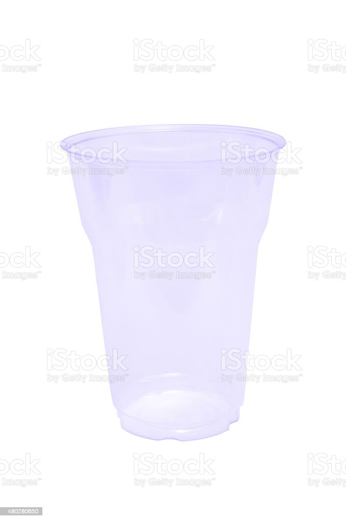 Disposible glass stock photo