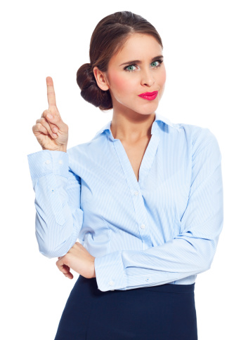 Dissatisfied Businesswoman Stock Photo - Download Image Now