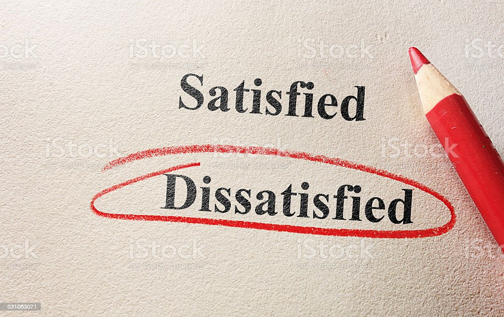 Dissatisfied red circle stock photo