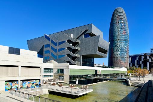 Disseny Hub Barcelona museum and Torre Glories