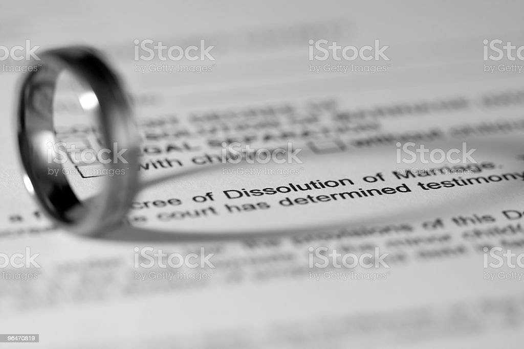 Dissolution of Marriage royalty-free stock photo